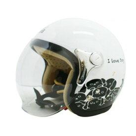 ダムトラックス(DAMMTRAX) カリーナ ヘルメット WHITE/DOG【同梱・代引き不可】