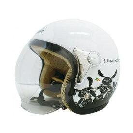 ダムトラックス(DAMMTRAX) カリーナ ヘルメット WHITE/RABBIT【同梱・代引き不可】
