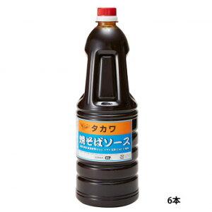 和泉食品 タカワ焼きそばソース(中濃) 1.8L(6本)【同梱・代引き不可】