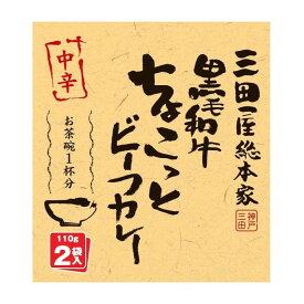 三田屋総本家 黒毛和牛ちょこっとビーフカレー 中辛 (110g×2袋)×20入【同梱・代引き不可】