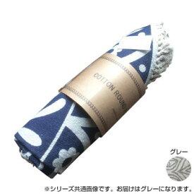 ラウンド プリント ラグマット グレー MZA-020GY【同梱・代引き不可】
