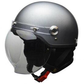 CROSS バブルシールド付き ハーフヘルメット LLサイズ(61-62cm未満) マットガンメタ CR-761【同梱・代引き不可】