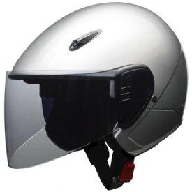 セミジェットヘルメット LLサイズ(61〜62cm未満) シルバー RE-351【同梱・代引き不可】