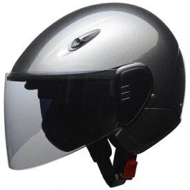 セミジェットヘルメット LLサイズ(61〜62cm未満) ガンメタリック RE-351【同梱・代引き不可】