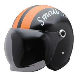 ユニカー工業 スモールジェットヘルメット ブラック/オレンジ BH-37KOR【同梱・代引き不可】