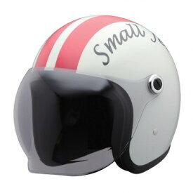 ユニカー工業 スモールジェットヘルメット ホワイト/レッド BH-37WRE【同梱・代引き不可】