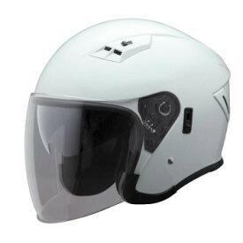 ユニカー工業 Wシールド ジェットヘルメット メタリックホワイト BH-39W【同梱・代引き不可】