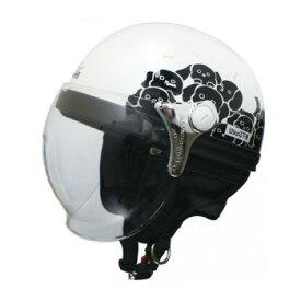 ダムトラックス(DAMMTRAX) カリーナ ハーフ ヘルメット WHITE/DOG【同梱・代引き不可】