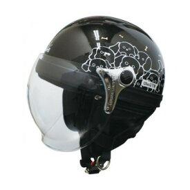 ダムトラックス(DAMMTRAX) カリーナ ハーフ ヘルメット BLACK/DOG【同梱・代引き不可】