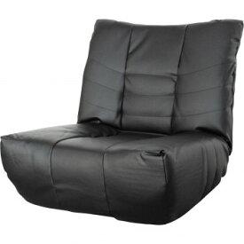 ローマ1P 5段階リクライニング 極厚座面座椅子 ブラック SH0206 【同梱・代引き不可】