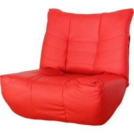 ローマ1P 5段階リクライニング 極厚座面座椅子 レッド SH0206 【同梱・代引き不可】