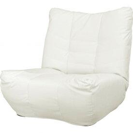 ローマ1P 5段階リクライニング 極厚座面座椅子 ホワイト SH0206 【同梱・代引き不可】