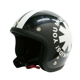 ダムトラックス(DAMMTRAX) ポポウィール ヘルメット PEARL BLACK【同梱・代引き不可】