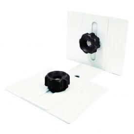 ティーエフサービス 地震対策 転倒防止 ティープレート ホワイト 2個入り TP-7090W【同梱・代引き不可】