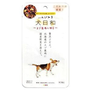 (まとめ)犬日和レトルト エゾ鹿肉と野菜 60g(ペット用品・犬用フード)【×30セット】同梱・代金引換不可