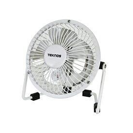 【あす楽】 マグネット扇風機 コイルコード 9cm羽根 小型扇風機 小型ファン 卓上扇風機 卓上ファン TEKNOS テクノス MG-910 ホワイト