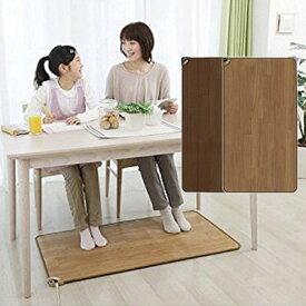 ホットテーブルマット 椙山紡織 60×110cm ホットマット 足元暖房 SB-TM110 ナチュラルブラウン ダークブラウン