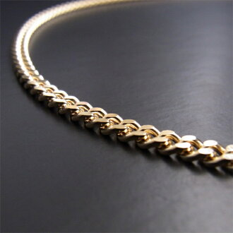 K18 two Kihei (.20 g of 40cm) with Kihei 18-karat gold necklace Mint Bureau official approval carved seal (Hallmark)