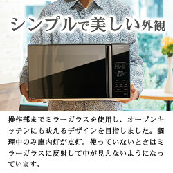【送料無料】ミラーガラスフラット電子レンジTWINBIRDツインバードDR-D269Bブラックおしゃれなデザイン家電