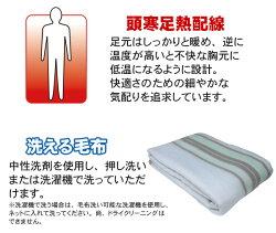 【送料無料】掛け敷き毛布190×130cmダブルサイズ相当洗える掛け毛布敷毛布電気毛布TEKNOSテクノスEM-706M【予約販売】