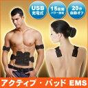 【あす楽】 EMS 腹筋ベルト アクティブパッド 15段階パワー 男女兼用 ボディ 充電式 こっそり貼るだけトレーニング 腹…
