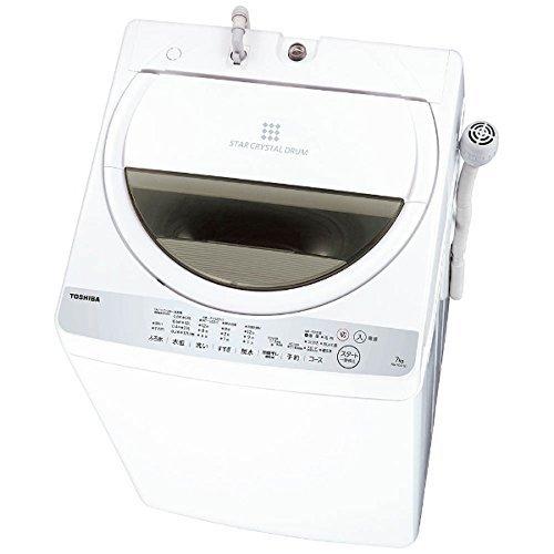 全自動洗濯機 洗濯・脱水容量 7kg 風乾燥 2kg ふろ水ポンプ内臓 東芝グランホワイト AW-7G6-W 【代引不可】