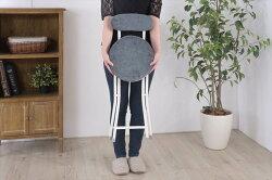 チェア折りたたみ折り畳みおしゃれ丸型背もたれ付き椅子カウンターチェアコンパクトPC-32YE【同梱不可】