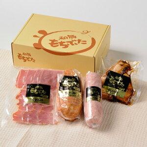 豚肉 国産 宮城県産 ハムブロック ソーセージ 角煮 ベーコンスライス 加工品詰め合わせ 肉 お肉 食品 もちぶた C01 【代引/同梱不可】