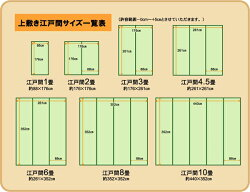 純国産立花織い草上敷『桂浜』江戸間8畳(352×352cm)【同梱・代引不可】