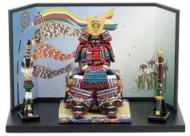 5237 鎧大青弓太刀付 (毛バタキ付)  コンパクト 鎧飾り 端午の節句 五月人形 ミニチュア フィギュア 初節句 出産祝い