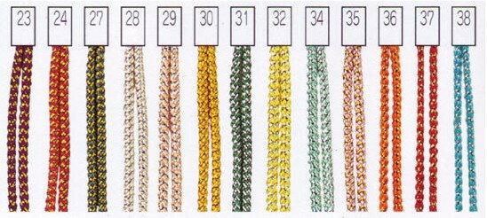 Panami メタリックヤーン<カラー>23〜40 パナミ・メタリックカラー・メタリック手芸・キャンバス手芸