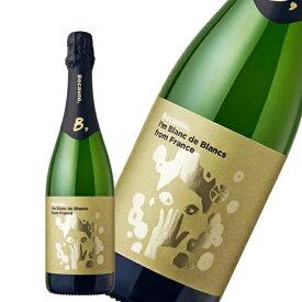 Because スパークリングワイン 白ワイン ビコーズ アイム ブラン ド ブラン フロム フランス 750ml ギフト プレゼント(4580611750212)
