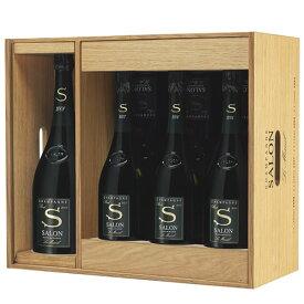 限定 サロン ブラン ド ブラン アソートセット シャンパン 木箱 2008(1500ml×1本) 2007(750mlx2本) 2006(750mlx2本) 2004(750mlx2本) 父の日 プレゼント