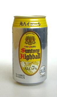 1箱三得利角搀苏打水加冰的威士忌罐350ml*24罐