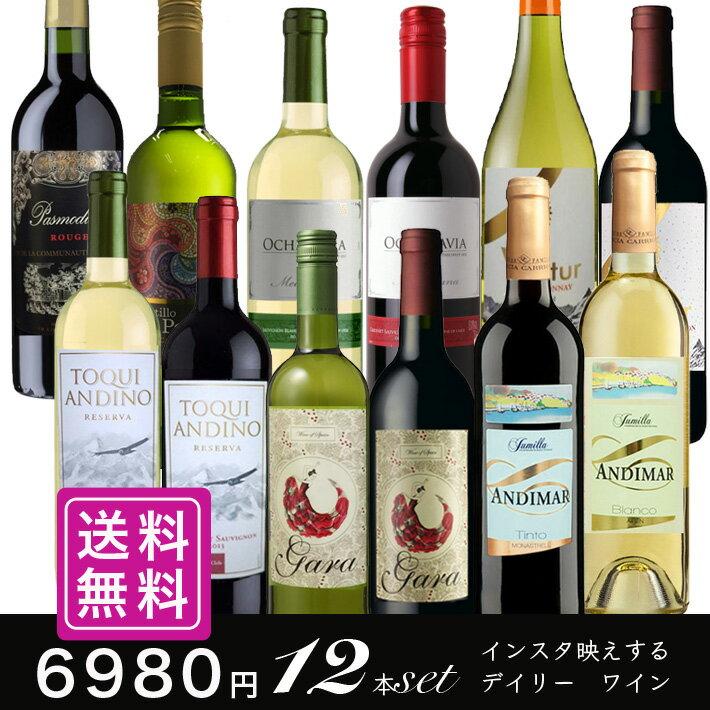 デイリーワインセット 赤白ワイン12本 送料無料 詰め合わせ 飲み比べ 世界各国 夢の競宴