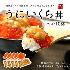 無添加うに&イクラ丼10杯分!無添加生ウニと北海道産イ...