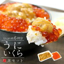 【送料無料】無添加うに&イクラ丼6杯分!無添加生ウニと北海道産イクラ醤油漬けの絶品海鮮丼セット(雲丹 いくら 刺…
