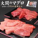 【送料無料】一度は食べたい大間のマグロ、中トロ&赤身セット300g!お刺身カット済みだから解凍後すぐ食べられる(ま…
