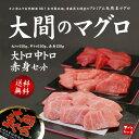 【送料無料】 一度は食べたい大間のマグロ、大トロ・中トロ・赤身セット450g(4〜5人前...