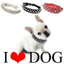 犬の首輪 幅2.5cm スタッズ・スパイクPUレザー首輪【送料無料】 首回り16cm〜48cm対応(海外輸入品)ハードロック|小型犬〜中型犬用|…