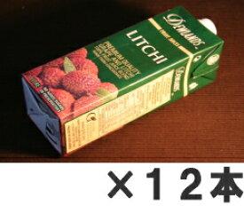 **まとめ買いで激安!DEWLANDS LITCHI デューランド ライチジュース 1,000ml 12本パック ★本商品は9,000円以上送料無料の対象外となります。24本(2ケース)ごとに送料600円が必要になります。★離島、沖縄県へのお届けは追加送料がかかります。[デュウランド][1065]