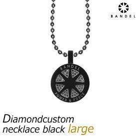 【送料無料】BANDEL バンデル ダイヤモンド カスタム ネックレス ラージ ブラック diamond custom necklace large black おしゃれな黒 スポーツネックレス スポーツアクセサリー メンズ レディース ユニセックス 新作 新商品 大きなサイズ