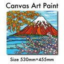絵画 アート 木張りキャンバス F10号 インテリア 富士山 赤富士 ハワイアン カリフォルニア おしゃれ アロハ ハワイ …