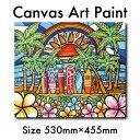 絵画 アート 木張りキャンバス F10号 インテリア ハワイアン カリフォルニア おしゃれ アロハ ハワイ サーフ 海 ビー…