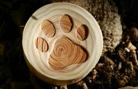 【一郎木創】 心持木受香器 肉球 ねこ 木製 桧 アロマポット アロマディッシュ インテリア