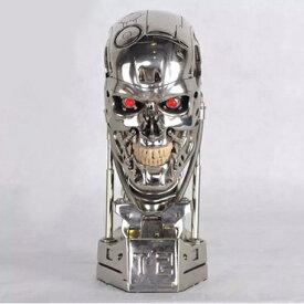 ターミネーターT 800 1:1スケール ターミネーターT2 アーノルド・シュワルツェネッガー 頭蓋骨 頭部 アニメキャラクター ヒーロー ハリウッド フィギュア ホビー T-800 ターミネーター 1/1 LED点灯