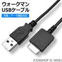 ウォークマン USBケーブル 充電/通信対応WMポート(オス) -USB(オス)ICONSHOP IC-WK01、IC-WK15WMC-NW20MU 相当品メー...
