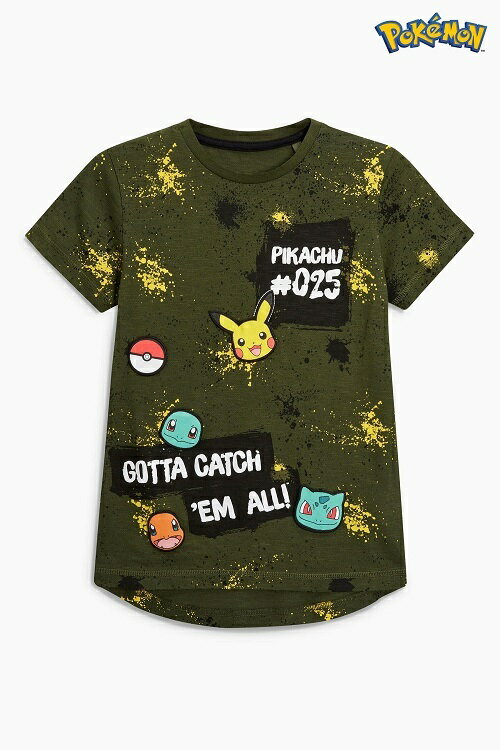 カーキ - Pokemon Tシャツ (3〜4 歳) ポケモン ピカチュウ 子供服 【ネクスト】