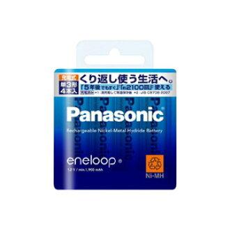 Panasonic ENELOOP eneloop AA 4 Pack (standard model)
