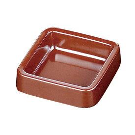 メラミンカラー灰皿 正角(茶)